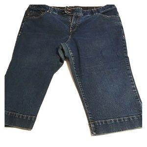Lane Bryant Capri Blue Jeans